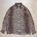 90's EQUIPMENT Open Collar L/S Shirts フランス製 レオパード柄 極上
