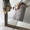 チェックベルト付きスカート