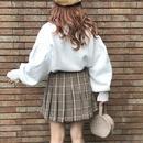 ミニ丈プリーツスカート