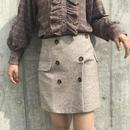 グレーウールスカート