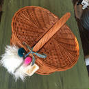 Basket bag w lid