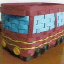 電車の収納カゴ