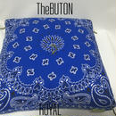 TheBUTON BANDANA ROYAL BLUE