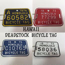 DEAD STOCK HAWAII BICYCLE TAG