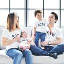 親子半袖Tシャツ / パパ+ママ+お子さま(1名) 3点セット
