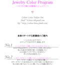 5期生募集中・2/28まで【半分おまとめ割引】30day Jewelry Color Program ~キラキラ輝く30種類のジュエリー~