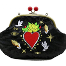 Love and Peace (BK)|Make-up pouch|velour [DW2-2010]