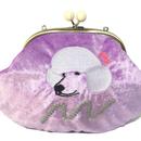 Let's Go poodle (PR)|Make-up pouch|velour [DW2-2007]