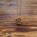 Wave COiN Pendant Necklace [Brass]
