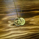 Nature & Wave COiN Set Necklace [Brass]