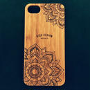 "Bamboo iPhone case D ""Sunflowers"" (SE/6s/7/8/X)"