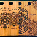 Bamboo iPhone case 7/8 Plus  (Mandala/Sunflower)