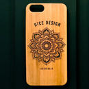 "Bamboo iPhone case B ""Sunflower"" (SE/6s/7/8/X)"