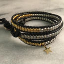 twin color wrap bracelet