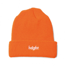 HT-W176001 / ROUND LOGO KNIT CAP - ORANGE