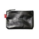HT-G187003 / LEATHER POUCH - BLACK