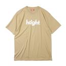 HT-W171002 / ROUND LOGO S/S TEE - BEIGE