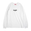HT-W181001 / ROUND LOGO L/S TEE - WHITE