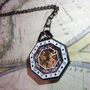 KES-H173 レトロオクタゴン懐中時計<BLK>