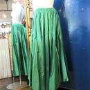 ELF-D16 カラーサテンロングスカート<GRN>