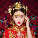 V8S-9592 中国花嫁頭飾りセット<GLD/パール>