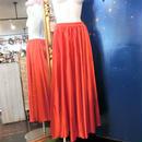 ELF-D16 カラーサテンロングスカート<RED>