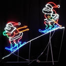 LED イルミネーション ディスプレイ 飾り 照明 ライティング クリスマス 2人スキーサンタ 【L2DM148】CR-72