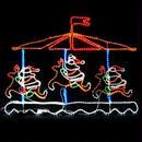 LED イルミネーション ディスプレイ 飾り 照明 ライティング クリスマス メリーゴーランド【L2DM143】CR-72