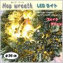 リース LEDライト ホップリース 照明 リビング ディスプレイ フェイクグリーン プレゼント カフェ 店舗 オリジナル BN