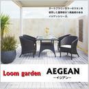【Loom  garden ロムガーデン】≪イジアン≫ アームチェアー 人工ラタン (ダークブラウン)  TK-1199