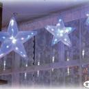 イルミネーション ディスプレイ 飾り 照明 ライティング クリスマス  LEDスター3連 【LDCM052】室内用*。