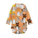 mini rodini ミニロディーニ  CHEER CATS LONG SLEEVE BODY ロンパース  定価$55
