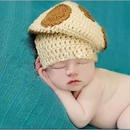 新生児ー1才対応 きのこ ニット帽子 コスチューム