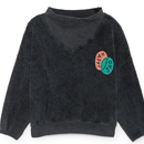 BOBO CHOSES Bobo Choses Happy Sad Rib Collar Sweatshirt トレーナー