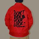 コーチジャケット『DON'T RIDE YOUR LUCK』レッド×ブラック【送料無料】早期割10%off13日まで延長・17日締切【完売】