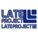 カッティングステッカー【LATEproject定番ロゴ】ブルー・2種類セット