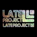 【残り3枚】カッティングステッカー【LATEproject定番ロゴ】メタルフレーク・シルバー・2種類セット