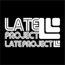 カッティングステッカー【LATEproject定番ロゴ】ホワイト・2種類セット