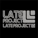 カッティングステッカー【新色・LATEproject定番ロゴ】シルバー・2種類セット  のコピー