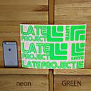 ネオン・カッティングステッカー5枚セット【限定のため在庫限り・A4サイズ】グリーン、イエロー、ピンク、オレンジ
