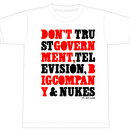 """""""Don't Trust Government 2"""" [281_AntiNuke series]2Colors"""