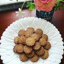 ひよこ豆粉のフラワークッキー