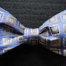 3P Silk Jacquard Classic Pattern Butterfly Tie (Blue)