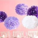 ペーパーポンポン ハニカムボール ペーパーフラワー パーティー 小物 ウェディング 小物 結婚式 アイテム ウエディング 装飾 インテリア パープル5個セット