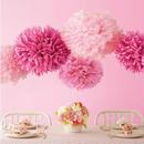 ペーパーポンポン ハニカムボール ペーパーフラワー パーティー 小物 ウェディング 小物 結婚式 アイテム ウエディング グッズ 装飾 インテリア ピンク5個セット
