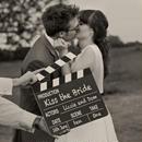 カチンコ 小物 ウェディング 結婚式 装飾 写真 映画撮影用 黒板式
