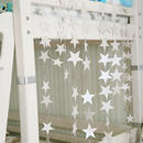 星型ガーランド (シルバー 4m) スター きらきら キラキラ 星のガーランド スターガーランド  オーナメント インテリア DIY パーティ お祝い 飾り付け