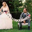 結婚式 ガーランド ウエディング JUST MARRIED  ウエディング グッズ 結婚式 小物 アイテム  ウエディングフォト ステッカー バナー