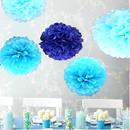 ペーパーポンポン ハニカムボール ペーパーフラワー パーティー 小物 ウェディング 小物 結婚式 アイテム ウエディング グッズ 装飾 インテリア ブルー5個セット