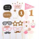 1歳 誕生日 飾り 女の子 バースデー フォト プロップス  グッズ コスチュームスティック 仮装 パーティー 小物  装飾 フォトアイテム